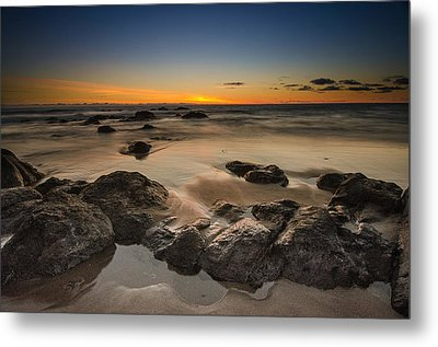Sunset - Lincoln Beach Metal Print by Tin Lung Chao