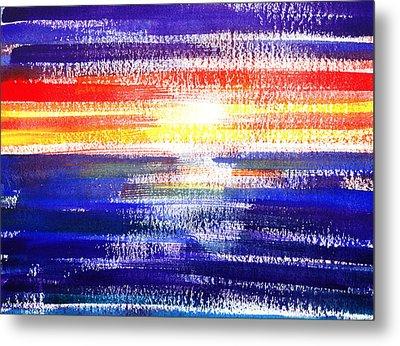 Sunset Lines Abstract Metal Print by Irina Sztukowski