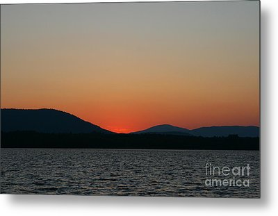 Sunset Lines Of Lake Umbagog  Metal Print