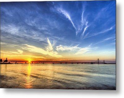 Sunset Mackinac Bridge Metal Print