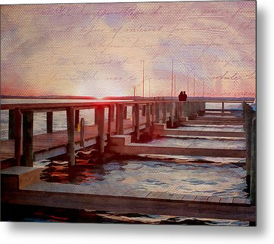 Sunset Memories From Chincoteague Metal Print by Julia Springer