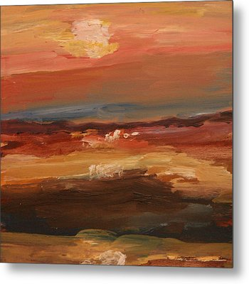 Metal Print featuring the painting Sunset by Michael Helfen