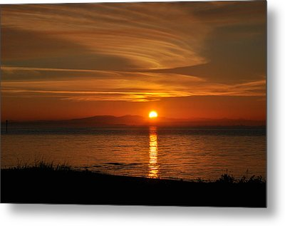 Sunset Mood Metal Print by Sabine Edrissi