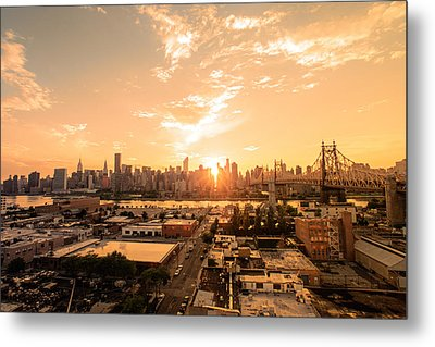Sunset - New York City Skyline Metal Print by Vivienne Gucwa