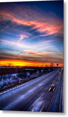 Sunset North Of Chicago 12-12-13 Metal Print by Michael  Bennett