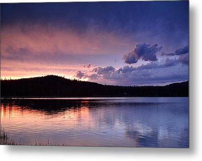 Sunset Of Fire And Ice Metal Print by Rich Rauenzahn
