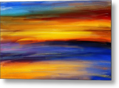 Sunset Of Light Metal Print by Lourry Legarde