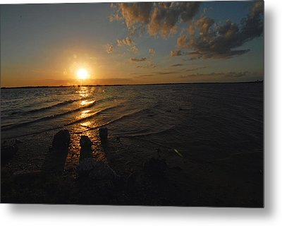 Metal Print featuring the photograph Sunset Olivia Texas by Susan D Moody