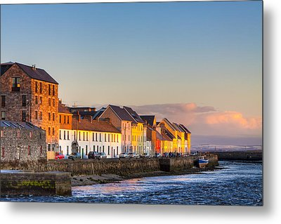 Sunset On A Beautiful Winter Day In Galway Ireland Metal Print