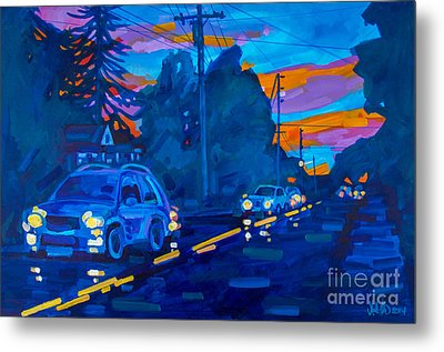 Sunset On Branch Avenue Metal Print by Michael Ciccotello