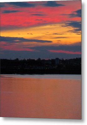 Sunset On Casco Bay Maine Metal Print by Patricia E Sundik