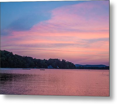 Sunset On Chickawaukee Lake Metal Print by Ernest Puglisi