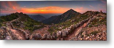Sunset On Franconia Ridge Metal Print