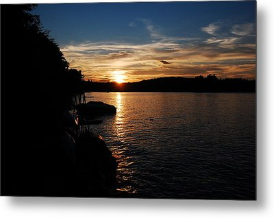 Metal Print featuring the photograph Sunset On Halfmoon by Mim White