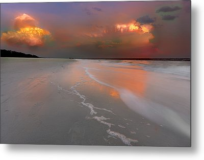 Sunset On Hilton Head Island Metal Print by Peter Lakomy