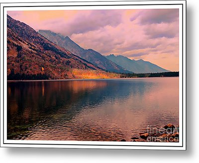 Sunset On Jenny Lake Metal Print