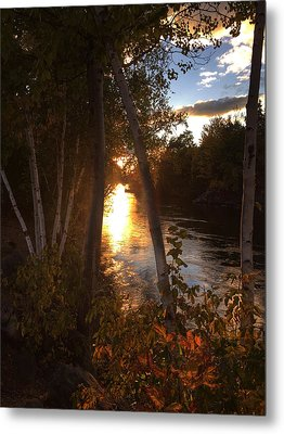 Sunset On Lake  Metal Print