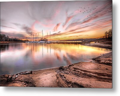 Sunset On Lake Hartwell Metal Print by Brent Craft