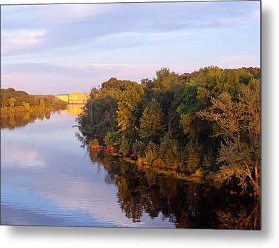 Sunset On Lake Wissota Dam Metal Print