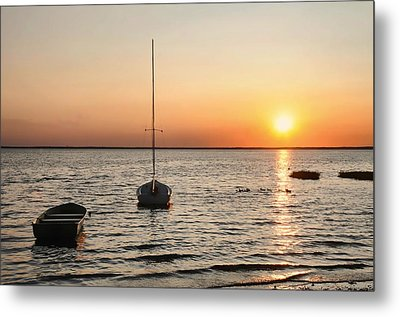 Sunset On Lbi Metal Print by Diana Angstadt