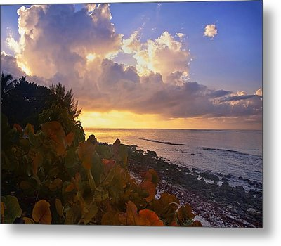 Sunset On Little Cayman Metal Print by Stephen Anderson