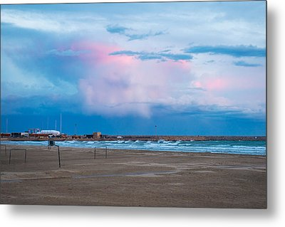 Sunset On Mediterranean Sea Spain Metal Print