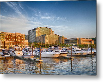 Sunset On National Harbor Metal Print