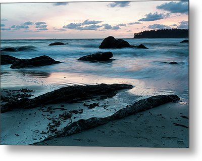 Sunset On Second Beach, Olympic Metal Print by Deb Garside