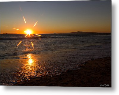 Sunset On Sunset Beach Metal Print by Heidi Smith