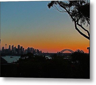 Sunset On Sydney Harbour  Metal Print