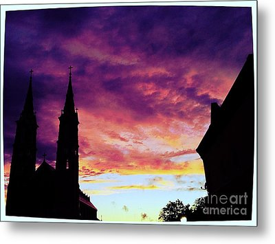 Sunset On The Basilica  Metal Print by Garren Zanker