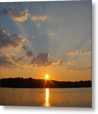 Sunset On The Bay  Metal Print by Justin Connor