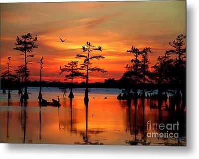 Sunset On The Bayou Metal Print