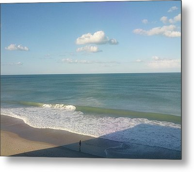 Sunset On The Beach Metal Print by Shesh Tantry