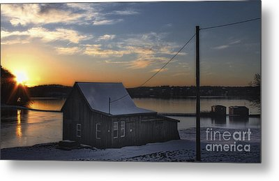 Metal Print featuring the photograph Sunset On The Bog by Gina Cormier