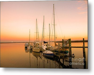 Sunset On The Dock Metal Print by Southern Photo