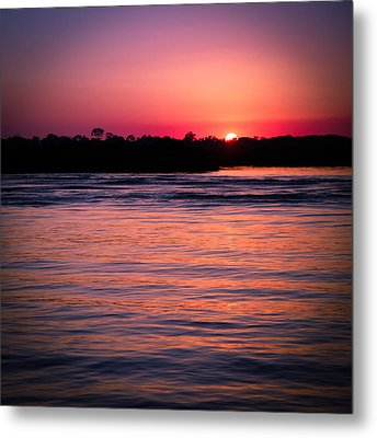 Sunset On The Halifax Metal Print by Maria Robinson