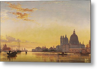 Sunset On The Lagoon Of Venice Metal Print by Edward William Cooke