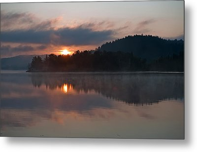 Sunset On The Lake Metal Print by Marek Poplawski