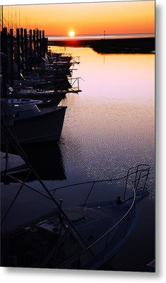Metal Print featuring the photograph Sunset On The Marina by James Kirkikis