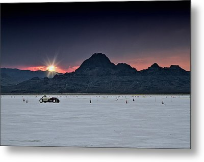 Sunset On The Salt Bonneville 2012 Metal Print by Holly Martin