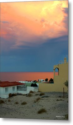 Sunset On The Sea Of Cortez Metal Print by Dick Botkin