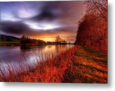 Sunset On The Suir Metal Print