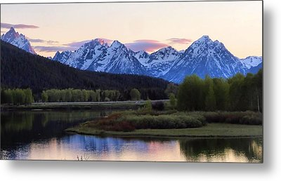 Sunset On The Tetons Metal Print by Dan Sproul