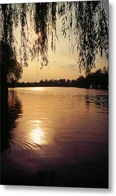 Sunset On The Thames Metal Print