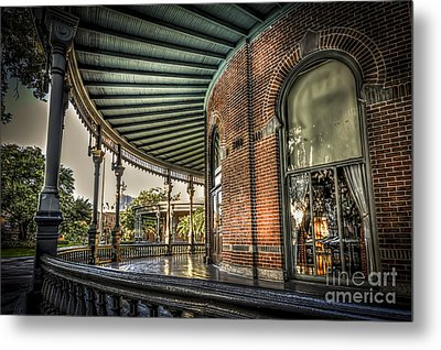 Sunset On The Veranda Metal Print by Marvin Spates