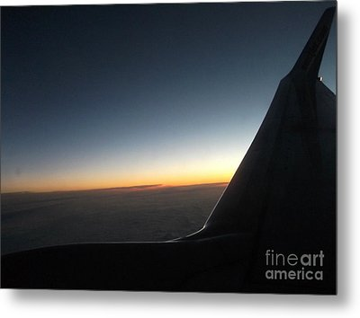 Sunset On Top Of The Clouds Metal Print by Gail Matthews