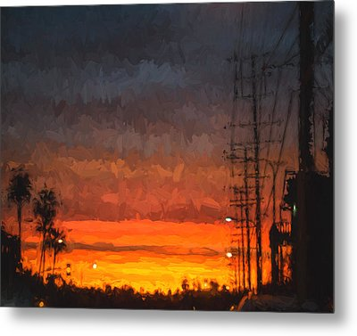 Metal Print featuring the painting Sunset On Ventura Boulevard by Ike Krieger