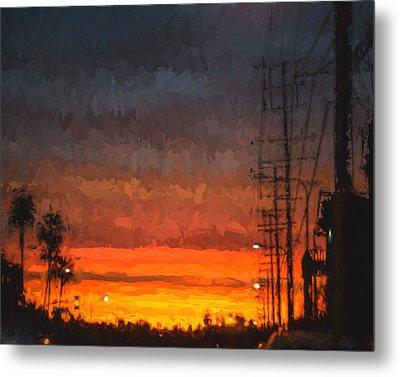 Sunset On Ventura Boulevard Metal Print by Ike Krieger