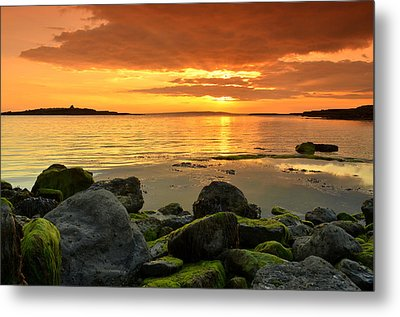 Sunset Over Aran Metal Print